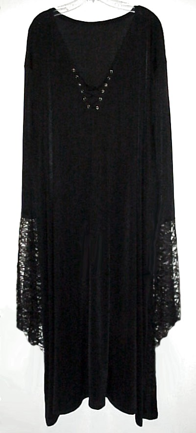 d22764e9795 SALE! Plus Size Gothic Witchy   Vampiress   Vampire Bell Sleeve Gown Dress  Supersize Halloween Costume 1x 2x 3x 4x 5x 6x 7x 8x