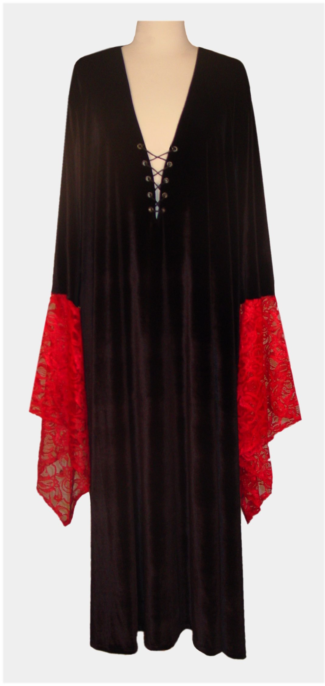 Sale Black Amp Red Gothic Lacey Lace Up Velvet Plus Size Dress Or Shirt Supersize Halloween