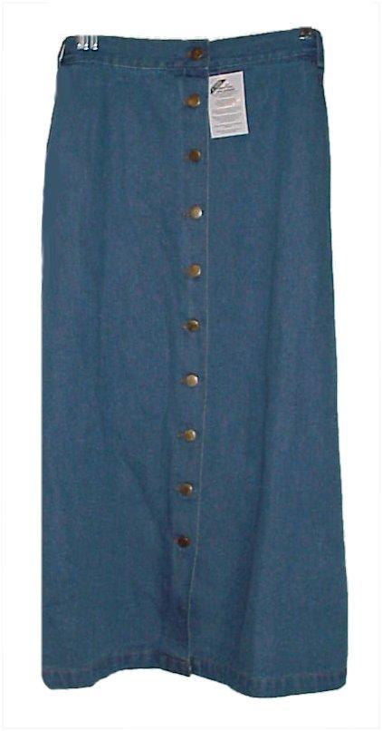 plus size blue jean skirts